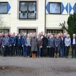 Die Tagungsteilnehmerinnen und –teilnehmer der Arbeitstagung in Münster vor dem Tagungshotel. Foto: Radio Jazz Research e.V.